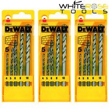 3 X DeWalt Mèche Foret Maçonnerie Ensembles 5 Pièce 4-10mm Carbure Bout Briques