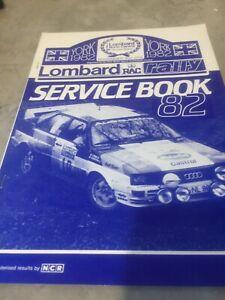 1982 LOMBARD RAC RALLY SERVICE BOOK  AUDI QUATTRO EX JIM PORTER