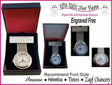 Engraved Silver Plated urses Watch Personalised  Nursing Graduation Gift