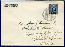 China 1940s cover to USA via Steamer SS President Hoover Dollar Team Hiplines
