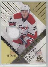 SEBASTIAN AHO ROOKIE Gold Material Parallel - Authentic Rookies SP GAME USED