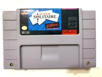 Super Solitaire - SNES Super Nintendo Game - Tested - Working - VERY GOOD!