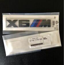 BMW X6M Matte Black Rear Trunk Boot Lid Emblem Lettering X6M M performance Badge
