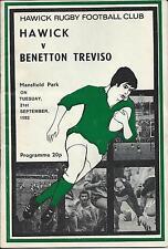 21 de septiembre 1982 Hawick V Benetton Treviso (Italia)