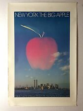 Rare New York Twin Towers World Trade Center WTC Travel Poster Neil Selkirk