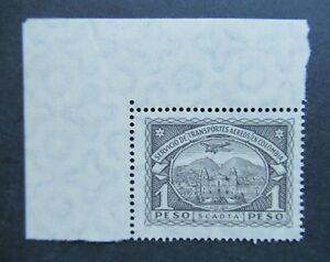 1920 VF MNH CORNERPIECE 1 PESO AIRMAIL COLOMBIA SCADTA B426.21 START $0.99