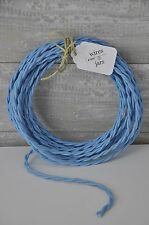 Twisted Cloth Covered Electrical Cord Wire LENGTH BY FOOT Sky Blue Lamp Cord