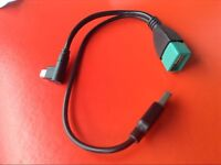 HOT USB Micro Male To USB Female Host OTG Cable + USB Power Cable Y Splitter