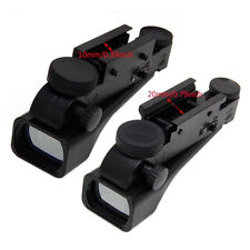 10mm Outdoor Hunting Reflex Red Dot Wide View Sight Scope Weaver Rail Mounts