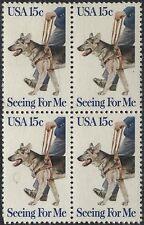 Scotts #1787  15c  Seeing Eye Dog Stamp Block of 4, MNH