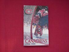 1998-99 Montreal Canadiens NHL Hockey Media Guide / Yearbook