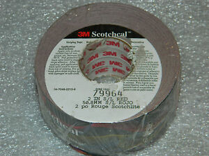 "NEW ROLL OF 3M 79964 SCOTCHCAL 2"" S/L RED REFLECTIVE STRIPING TAPE 2 INCH x 50'"