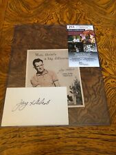 Jay Hebert Autographed Index Card W/Photo 1960 PGA Champ d.1997. Rare! Golf Grt