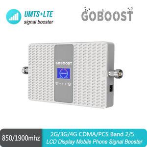 AT&T Verizon 3G 4G CDMA 850+PCS 1900 Dual Band B2/5  Cell Phone Signal Repeater