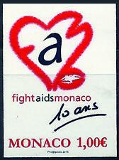 MONACO n° 2951 Fight AIDS Monaco non dentelé imperf, superbe **