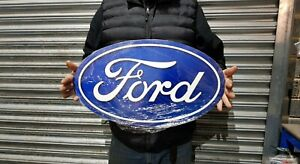 """Large 24"""" x 14"""" Ford Oval  Metal Sign Man Cave/ Garage/ Shed"""