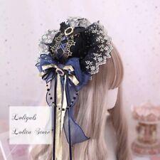 Star & Moon ~ Sweet Navy Blue Lolita Mini Hat Cute Hair Accessories