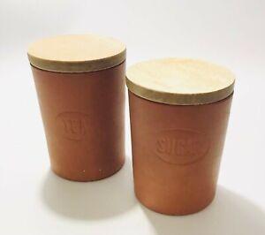 Terracotta Storage Jars With Lids Tea Sugar Wattisfield Ware Suffolk