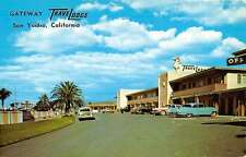 San Ysidro California Gateway Travelodge Street View Vintage Postcard K59078