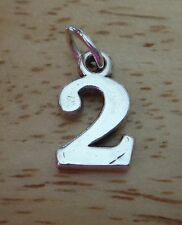 20% off flaw Sterling Silver number 2 Birthday Anniversary Number Charm!