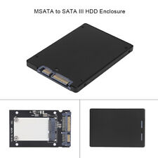 "Portable Metal mSATA to 2.5"" SATA3.0 HDD SSD Converter Adapter Enclosure Case"