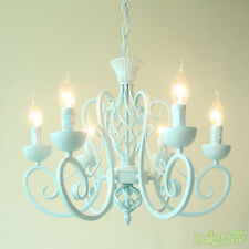 Mediterranean light blue Iron Chandelier Pendant Light Ceiling Lamp + 6 LED Bulb
