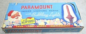 Vintage Paramount Indoor Lighting Outfit with 7 Bubbling Lights Christmas Decor