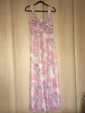 BNWT Monsoon Floral Part Pleated Maxi Dress 10
