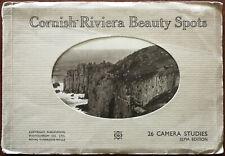 Cornish Riviera Beauty Spots 26 Camera Studies Sepia Edition.  A Photochrom Book