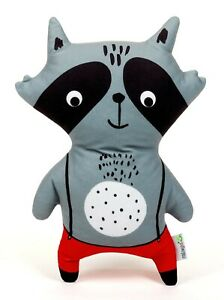Raccoon With Red Trousers Soft Toy, 33CM  Christmas Gift, Soft Toy Raccoon