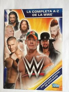 LUCHA LIBRE WWE TOPPS STICKER BOOKLET EMPTY COMPLETE UNSTUCK STICKER SET MEXICO