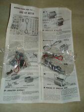 LINDBERG Large Kit Motor, Two Electric Motors, Instructions, Unbuilt