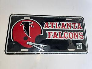 Vintage 1970's-80's NFL Atlanta Falcons Football Metal License Plate Sealed Rare