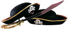 Piratenhut für Kinder schwarz-gold NEU - Karneval Fasching Hut Mütze Kopfbedecku