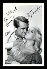 CARY GRANT & JAYNE MANSFIELD AUTOGRAPHED SIGNED & FRAMED PP POSTER PHOTO