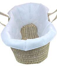BabyPrem Quilted Lining Moses Basket LINER Standard Size 73-76 x 28cm