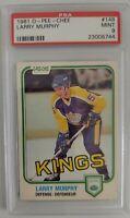 1981 O-Pee-Chee Hockey Larry Murphy ROOKIE RC #148 PSA 9 MINT