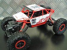 RC- Conqueror White 4WD 1:18 Rock Crawler 2.4GHz Mini-Crawler (Farbe weiss/rot)