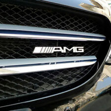 MERCEDES AMG CHROME METAL FRONT GRILLE BADGE C63/CLA/GLA/C200/C250/C43