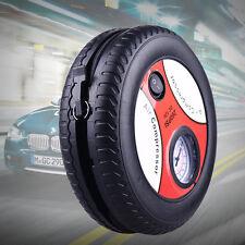12v Tyre Shape Air Compressor Car Bike ball Inflator Electric Mini Pressure Pump