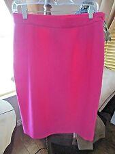 YVES SAINT LAURENT ENCORE Wool PINK Skirt Size 10 *GREAT*