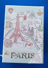 Paris/Balloon Design Storage Box With 10 Divider Cards-New