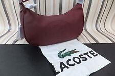 LACOSTE Genuine Stunning Burgandy RESEDA Shoulder Hand Bag BNWT