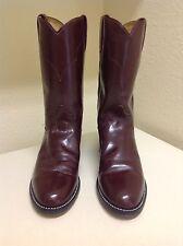 Tony Lama - Women - Western Leather Ropers / Boots - Burgundy- Size 5 B
