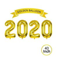2020 Gold Foil Number Balloons for Graduation Decor Supplies Birthday Parties.