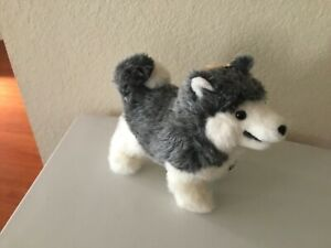 "Dakin Pillow Pets Siberian Husky Gray Little Nanook 12"" Plush 1977 (38-5436) NWT"