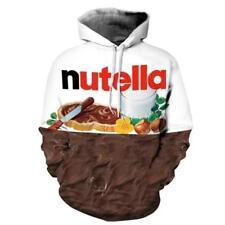 Women's Nutella Hoodie Chocolate Print Couple Sweatshirt Sweatjacke Long Sleeve
