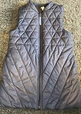 Ivivva Lululemon Girls Gray Quilted Fleece Lined Vest Size 14 EUC Polyester