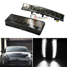 Smoke 7-LED Bumper Reflector Daytime Running Lights Direct Fit 03-05 Nissan 350Z
