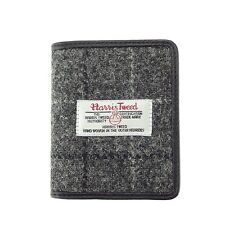Authentic Harris Tweed Credit Card Holder Grey Check LB2006 COL 11